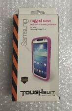 PINK BODY GLOVE ToughSuit Case for Samsung Galaxy S4 + Built-in Screen Protector