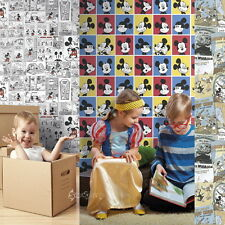 Official Disney Mickey Mouse 10m Wallpaper Kids Bedroom Feature Wall Boys Girls