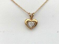 14K YELLOW GOLD 20CT.HEART SHAPED DIAMOND PENDANT