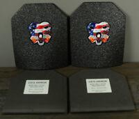 CATI AR500 Body Armor Base Coating Steel Plates Level III 10x12 PAIR