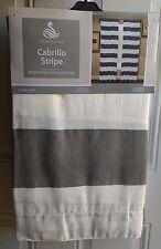 NEW SPENCER HOME Cabrillo Gray Stripe Window Curtain Panel 54x84 PAIR