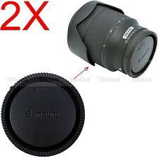 2x Rear Cap Cover for Sony Micro SLR Camera E FE SEL Mount Lens E10-18/4
