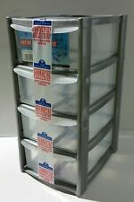 New 4 Tier Tower Storage Box Makeup Organiser Kitchen Storage Garage Tidy