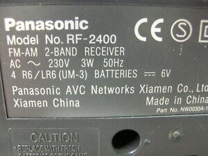 panasonic radio rf2400