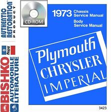1973 Chrysler Plymouth Shop Service Repair Manual CD
