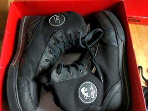 Furygan Ted D3O Motorbike Motorcycle Boots Waterproof - Black 45 EU / 11 UK