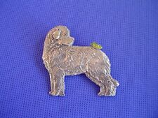 Newfoundland and Butterfly Pin #96B Pewter Working Dog Jewelry Cindy A. Conter