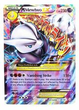 Pokémon Individual Card Mega EX Mewtwo 63/162 with Card Sleeve and Box Case
