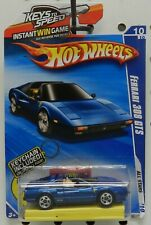 FERRARI BLUE SPORTS CAR 308 GTS 128 10 2010 KEYS TO SPEED KEYCHAIN HW HOT WHEELS