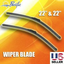 "J-HOOK Windshield Wiper Blades OEM QUALITY 22"" & 22"" INCH Bracketless"