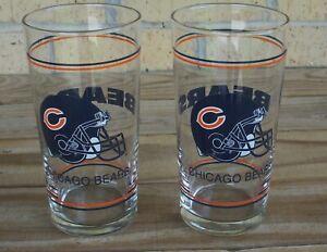 Set of 2 Chicago Bears Helmet 18oz. Tumbler Drinking Glasses