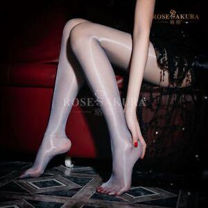 Shiny Glossy Ultra Sheer Pantyhose High Waist Nylon Tights Stockings