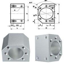 4 x Aluminum Ballscrew Nut Housing Mounting Bracket Holder For 1604/1605/1610