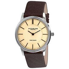 Stuhrling Original Men's 238.321K43 Newberry Swiss Quartz Brown Leather Watch