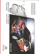 Carte postale Postcard CITROEN DS3 WRC 2012 LOEB