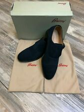 Brioni Shoes Buckle Oxfords Blue Gorgeous Most Luxurious Blue Suede Shoes 40/7