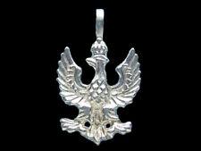Sterling Silver Polish Eagle Pendant 925 charmmakers