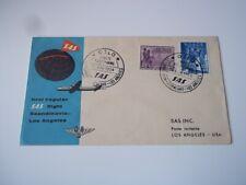 Norway Fdc: First Regular Flight: Scandanavia - Los Angeles. 1954.