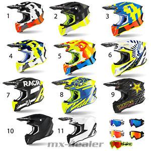 2021 Airoh Twist 2.0 Frame Racr MX Helm Crosshelm + HP7 Brille Motocross Enduro