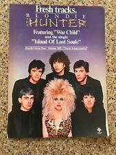 1982 Vintage 8X11 Album Promo Color Print Ad For Blondie The Hunter Debbie Harry