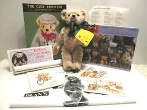"1995 Dean's Bears Collector's Club Herbert 12"" Brown Mohair Bear 1st Membership"
