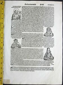 1493 Schedel,1st Edition Leaf,Important people of the 15th century,woodcuts