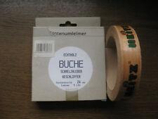 1 Rolle je 5 mtr lang Kantenumleimer Echtholz Buche 24 mm breit zum Aufbügeln