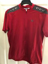 IQ Pearl i Zumi Men's XL Short Sleeve 1/2 Zip Cycling Top Red