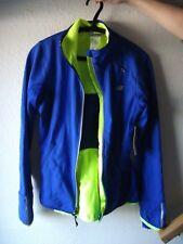 NEW: New Balance Windblocker Women's Jacket  SMALL Bright Blue (WRJ4307 )