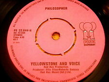 "YELLOWSTONE & VOICE - PHILOSOPHER / THE FLYING DUTCHMAN   7"" VINYL"