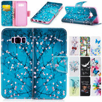 For Samsung Galaxy S6 S7 Edge S8 Plus Leather Wallet Card Slot Phone Case Cover
