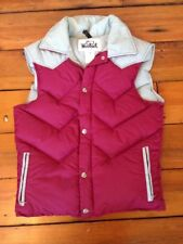Vintage 70s Woolrich Red Gray Nylon Goose Down Western Puffer Ski Vest S 38""
