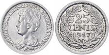 Niederlanden 25 cent 1917 - Kursmünze