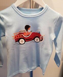 "ZIEGFELD Kids Shirt "" Bob im Auto "" Langarm hellblau  Gr. 86 - 116 NEU"
