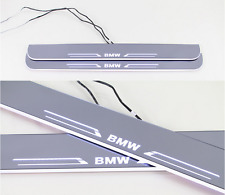 2x White LED Moving Welcome Lights Door Sill Scuff Plate Trim Panel For BMW Z4