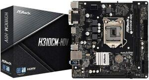 ASRock H310CM-HDV Motherboard, 1151, MATX, 2 DDR4, DVI, VGA, HDMI, GB LAN