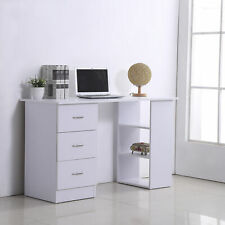 Mesa de Ordenador Escritorio para Hogar Oficina 3 Cajones 3 Estantes 120x49x72cm
