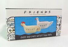 NEW Official Friends TV Series Egg Cups Chick and Duck Set of 2 in Gift Box