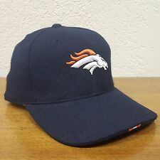 Nike Denver Broncos Curved Bill Fitted 100% Wool Ball Cap Embroidered Logo Hat