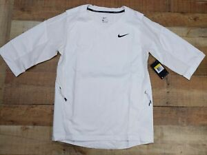 Nike Baseball Short Sleeve Windbreaker Jacket Quarter Zip Mens Size S white