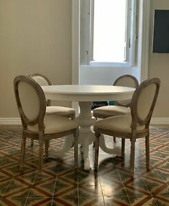Table Tanganyika 1320 Round White Color, With 1 Extensions, Ø120