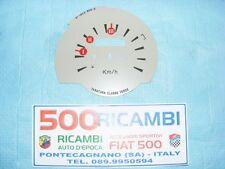 FIAT 500 F/R QUADRANTE CONTACHILOMETRI SFONDO TACHIMETRO CRUSCOTTO 120 Km/h