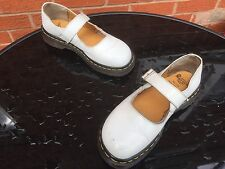 Vintage Dr Martens white mary jane shoes UK 5 EU 38 polley skin indica England