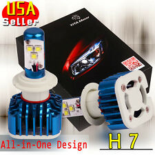 H7 LED Headlight Lights High Power 80W 8000LM Low Beam Bulbs 6000K White