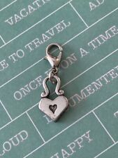 Brighton Open Heart Lock & Key Simple & Charming Clip-on Custom ABC Charm