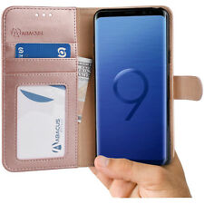 Rose Gold Wallet Case Flip Cover w/Stand for Samsung Galaxy S9 S 9 by Abacus24-7