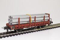 TRIX Express 3436 H0 Rungenwagen mit Bremserhaus der DB