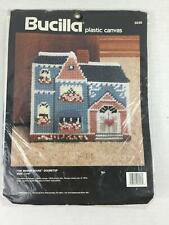 Vintage Bucilla The Manor House #6046 Plastic Canvas Crewel Yarn Tapestry NIP