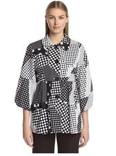 BIGIO WOMEN'S POLKA DOT COAT BLACK AND WHITE SIZE 6