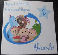 Personalised In The NIght Garden Birthday Card - Boy/Girl 1st 2nd 3rd 4th {G54}
